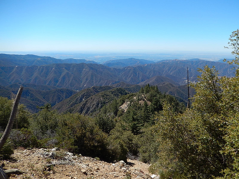Glendora Mountain Road Slicing it's way accross the distant mount tops.
