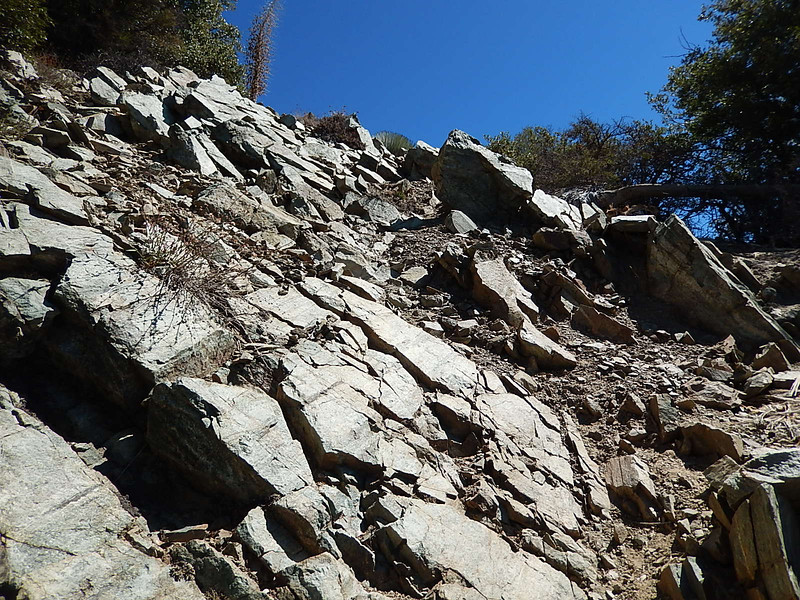 A lot of loose rock to cross.
