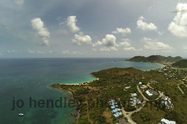 Friars Bay, SXM, looking out to Happy Bay and Grand case