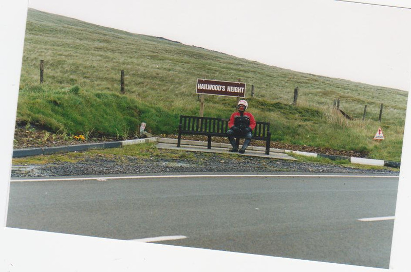 The highest point of the race track and newly named Hailwood memorial.