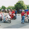 There were 3 or 4 Ducati,s racing without much success. The old by then Honda RC 30 was the prefered bike for privateers.