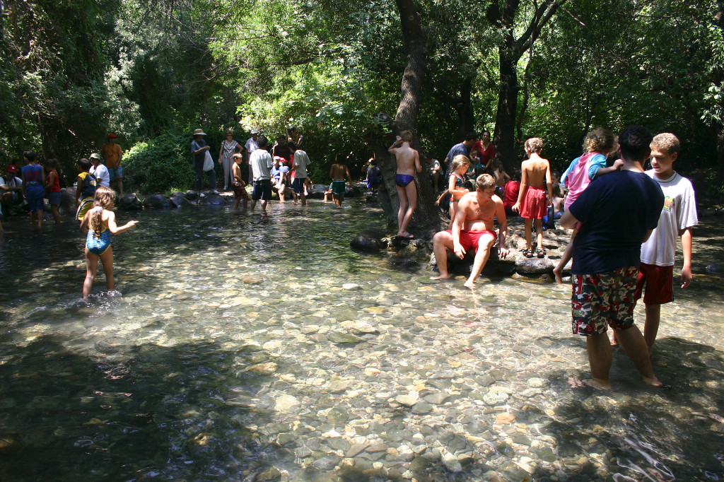 Israelis come from all over to hike and cool off