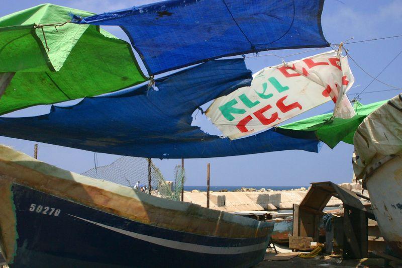 Jaffa port scene