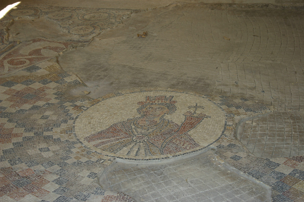 Well preserved mosaic to one of the Roman gods
