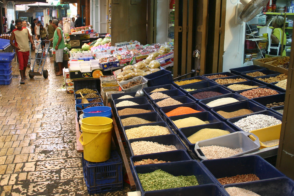 In the marketplace of Acco. Smell of spices permeates the whole market. We had a great hummus meal near here, waiting in line with an incredible ethnic mix
