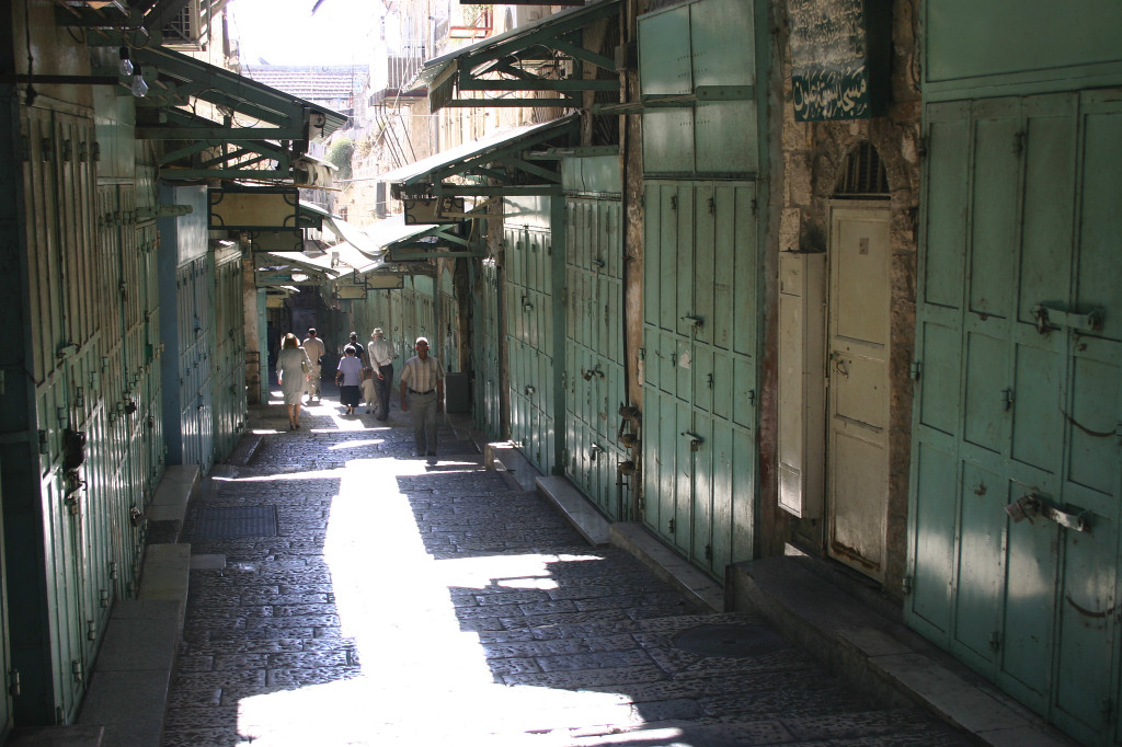The Old City, mid morning but many of the merchants have not opened up yet