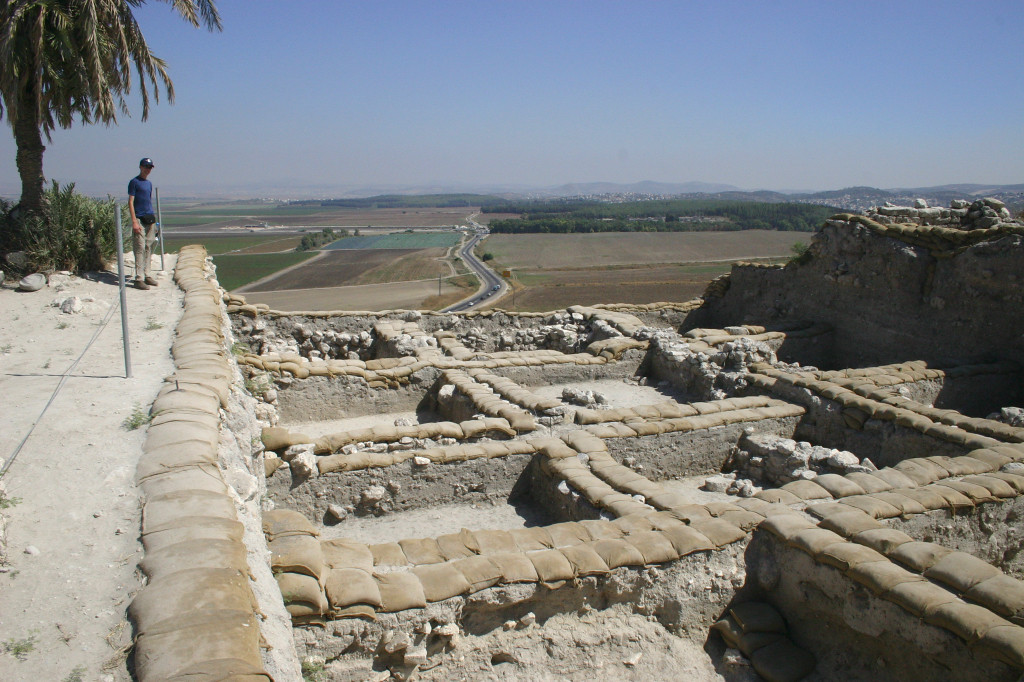 From there westward to Har Meggido (mount Megiddo in Hebrew). Over 20 layers of civilzation in this tel. At the crossroads of two major ancient routes, it was the site of so many battles to control the site that it is better known for by the corruption of it's Hebrew name- Armageddon