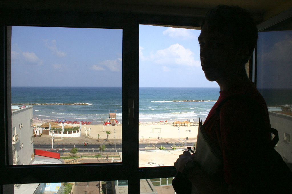 Our hotel in Tel Aviv was just a block from the Mediterranean