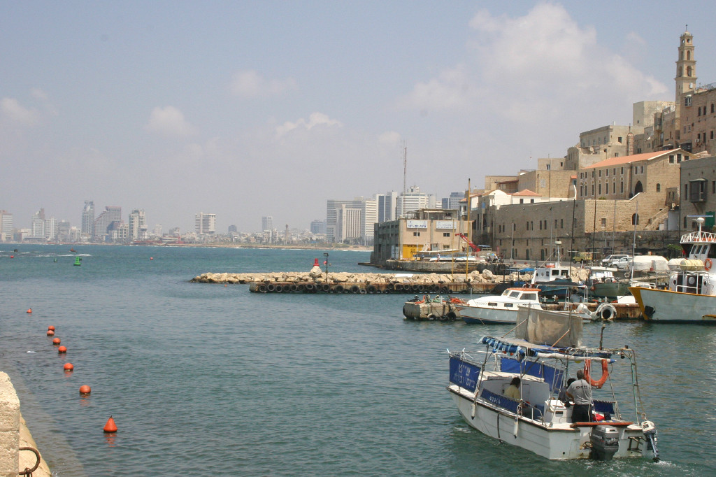 Modern Tel Aviv in the distance; the ancient port of Jaffa (where Jonah sailed from before meeting a certain whale) was it's birthplace. Now Jaffa is a tiny enclave surrounded by a city the size of metro San Diego around it