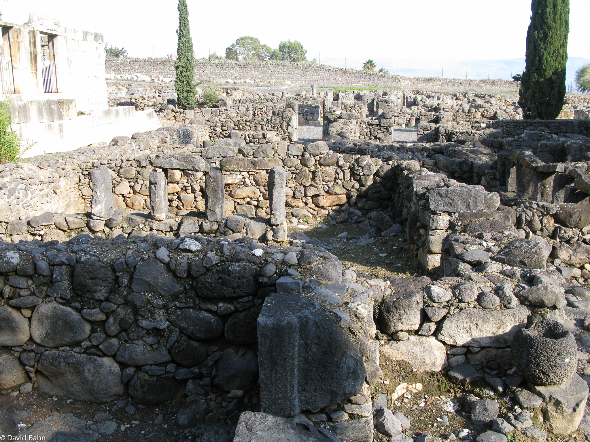 Foundations of houses outside of the synogogue at Capernaum