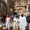 Muslims visiting the Church of the Holy Sepulchre