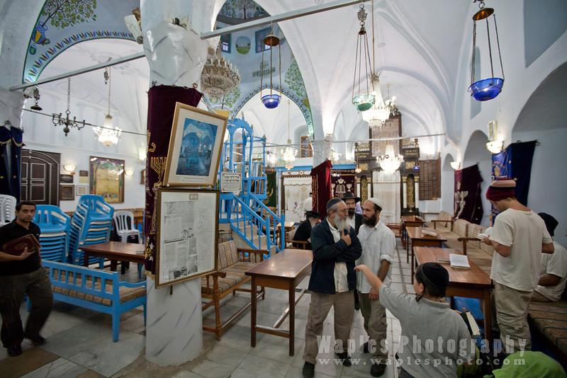 Just after prayer service, Abuhav Synagogue