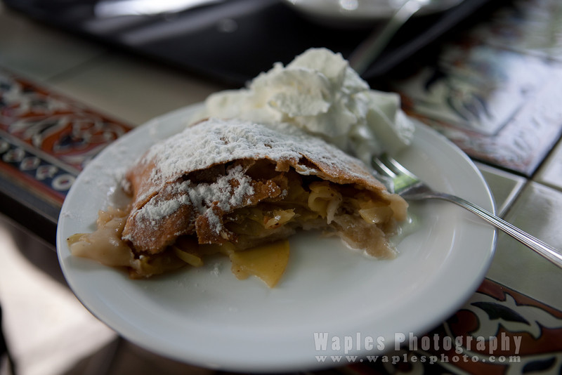 Apple strudel at the Austrian Hospice