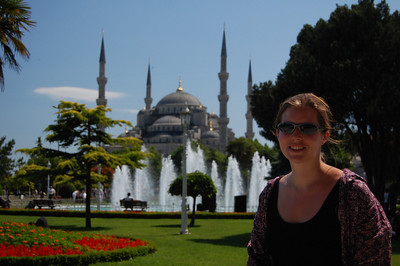 The Blue Mosque - just 200 metres from our hostel.