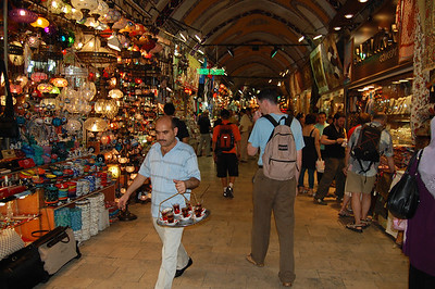 The Grand Bazaar, the oldest and largest covered market in the world.