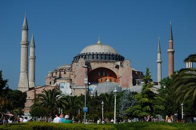 Hagia Sofia, former church & mosque, built in AD537.