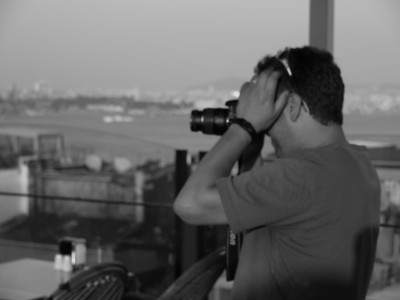 Trying to capture the evening light from the roof of the hostel.