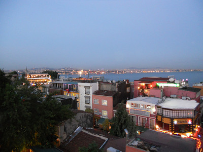 View of the Bosphorus and Asia from our roof.