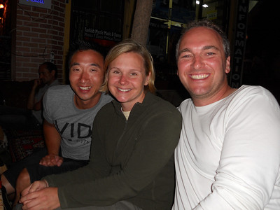 Aric & Angi, a lovely couple from the US, who we enjoyed a great first night with.