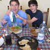 Flavio and Giovanni ham it up.