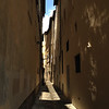 Narrow lane, shadows