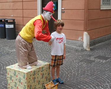 Noah and Pinochio in Limone