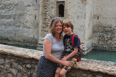 Paige and Noah at the Castle in Sermione