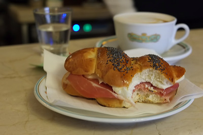 Panini and Cappucino in Florence