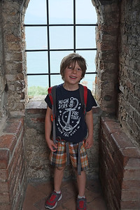Noah Climbs to the Top of the Castle in Sermione