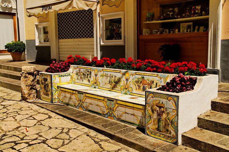 Sidewalk Bench - Anacapri