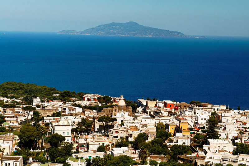 View of Anacapri from Monte Solaro Chairlift