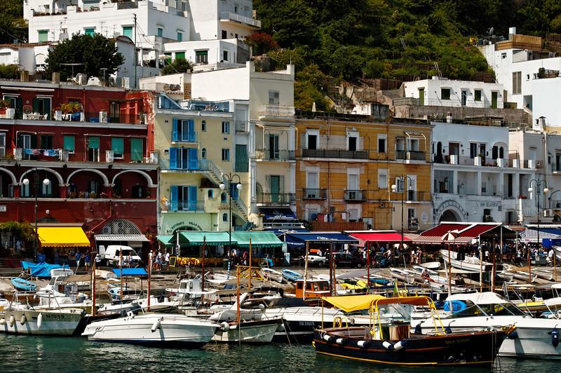 Capri - View of the Marina Grande Harbor
