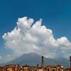 View of Mt. Vesuvius from the Forum in Pompeii