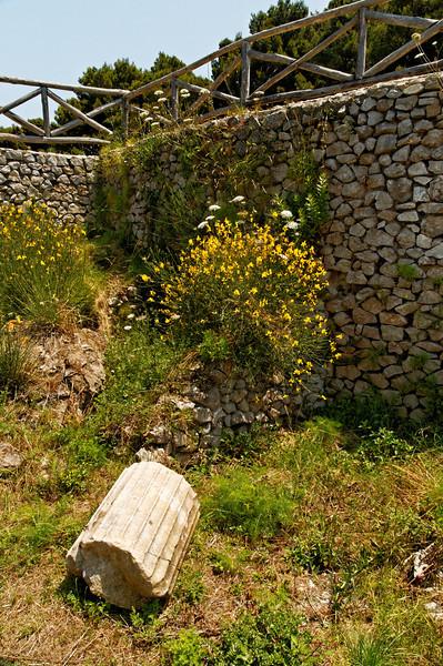 Scene from one of Tiberius' Villas on Capri - Villa Imperiale Damecuta