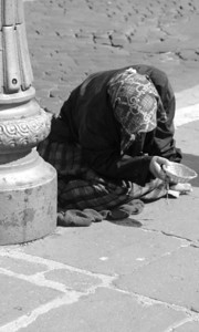 Woman Beggar - I never saw her face...