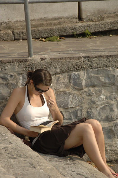 A Good Book by the Lake at Como