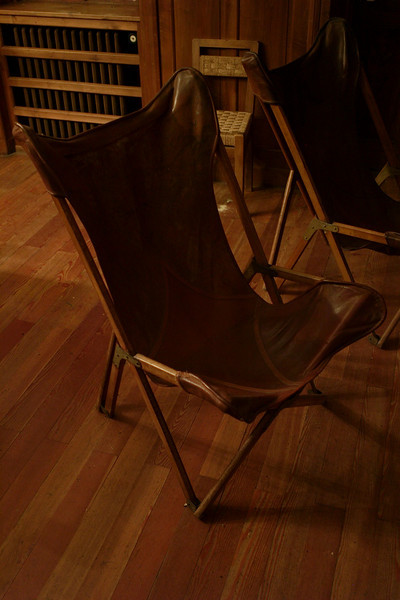 an interesting vintage folding chair