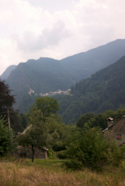 a view from high up in Fobello