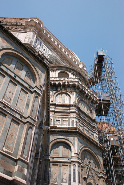 Duomo from the back has some of the scaffolding still.