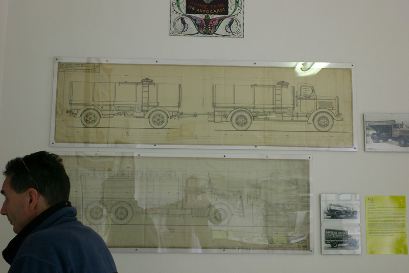 wonderful 1950's truck drawings (from a body builder) at the Museum