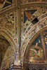 a view of the ceilings in the baptistry in Sienna