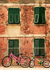 Two Bikes, Manarola, Cinque Terre, Italy, July 2004