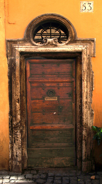 Old door in Rome Italy