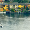 boathouses attached to renaissance villas in the italian lake of Orta near Milan