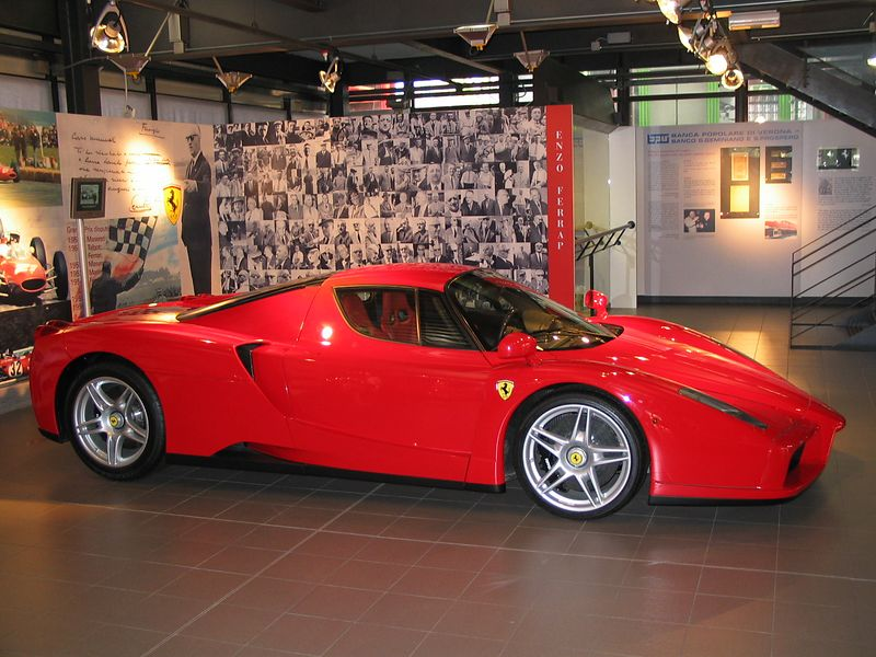Right Side, Enzo Ferrari in background