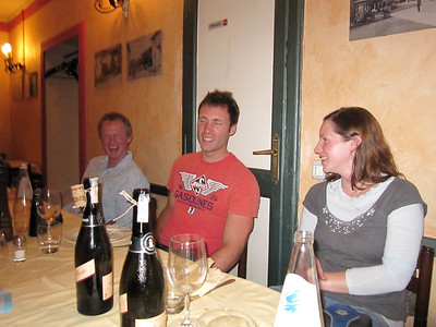 Meal at Jack's local in Lisanza, Varese. Our first night in Italy.