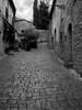 Ancient street in the old hill top<br />  town of Volterra in the Tuscany<br /> region of Italy.