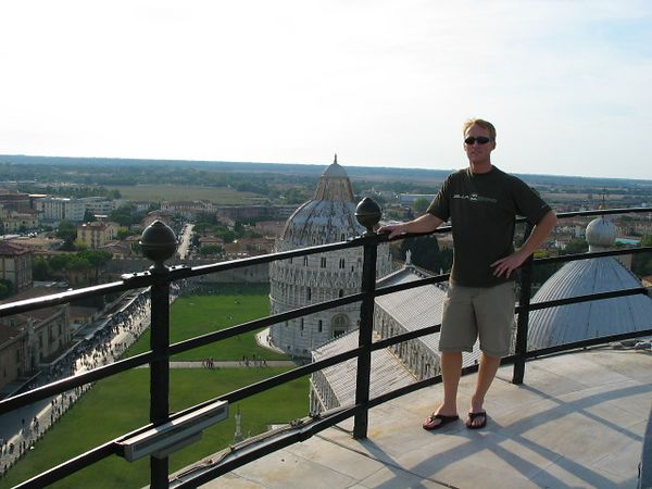Me atop the Leaning Tower