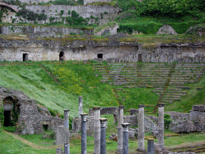 Roman theater in Volterra Italy