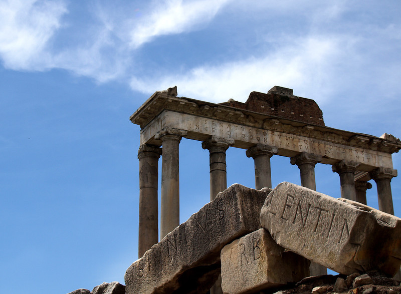 One of the many ruins located in the forum of Roma Italy